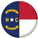 North Carolina State Flag 58mm Button Badge